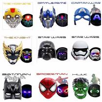 Máscara Led Vingadores Star Wars Transformers Pikachu Outros