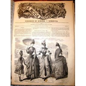 Moda Elegante Dama Antigua Señora Y Señorita 1885 Otoño Invi