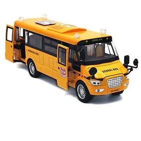 Mallya 9 Pull Back Amarillo Del Autobús Escolar De Aleación