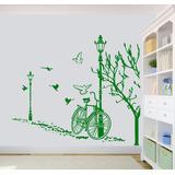 Vinilo Pared Bicicleta Otoño Decoración Wall Stickers