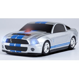 Mouse Sem Fio - Ford Mustang Shelby Gt500 Prata - Road Mice