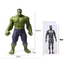Boneco Hulk 30cm Com Som E Pantera Negra 15cm