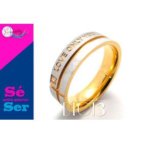 Fino Anillo Unisex Acero Inoxidable Bt013 Dorado Envíogratis