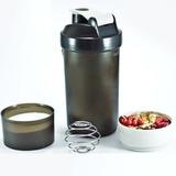 Coqueteleira Shaker Preta Blender 600 Ml Kiox - Uso Academia