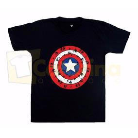 Camiseta Super Heróis Capitão América Frete Grátis