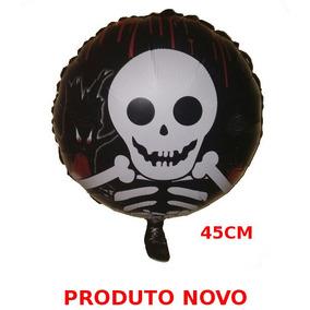 Balão Metalizado Halloween Dia Das Bruxas Caveira #