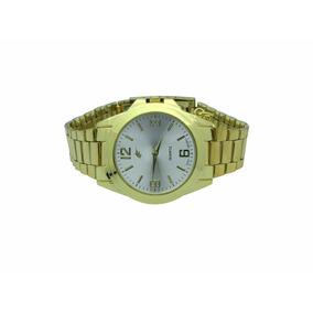 Lote 4 Relógios Analógico Dourado Com Pingente Ab-32 #