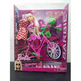 Boneca Kit Barbie Importada Bicicleta Patins Roupa Sapato