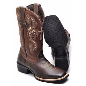Bota Feminina Texana Bico Quadrado