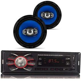 Kit Radio Mp3 Bluetooth Usb + 2 Auto 6 Pol
