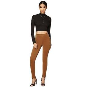 Forever 21 Pantalon Skinny Entubados Stretch Cafe Camel L-xl