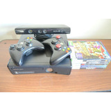 Xbox 360 Slim Kinect 4gb+ 2 Joystick+ Juegos + Memo Externa