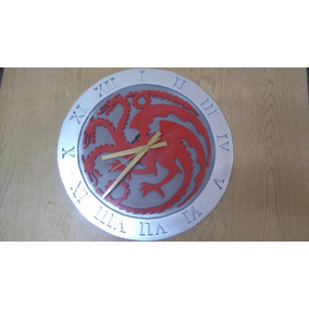 Games Of Throne Reloj Artesanal De Madera.!