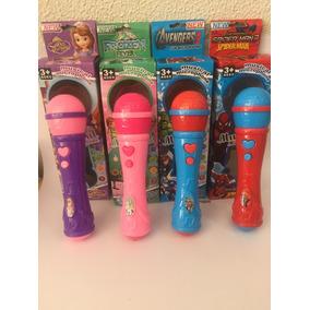Microfone Brinquedo A Pilha Personagem Frozen Super Herois
