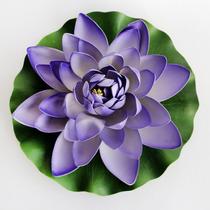 Adorno Flor Artificial Morph Flor Loto Violeta