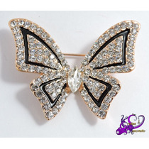 Mariposa Elegante Bisutería Broche Ropa Abrigo Navidadc/caja