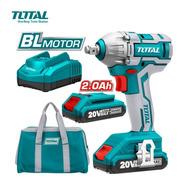 Llave Impacto Bateria Total 20v 2 Baterias + Bolso