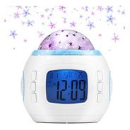 Reloj Despertador Digital Proyector Estrellas Con Musica