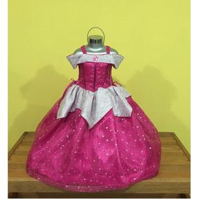 Vestido, Disfraz Princesa Aurora Con Zapatillas.