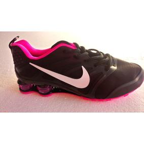 Tenis Nike Shox Para Dama ! Negros Con Vivos Rosas ,