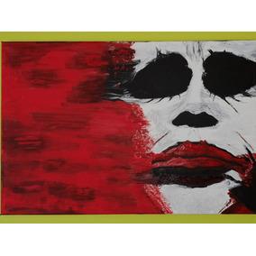 Cuadro Pintura Guason Joker Al Oleó Hecho A Mano