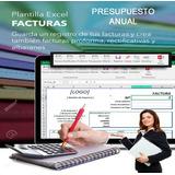 Factura Plantilla Excel,sistema Presupuesto Anual De Empresa
