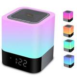 Bocina Inalambrica Despertador, Bluetooth Led Radio Fm