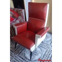 Poltrona Cadeira Antiga Pé Palito Década 50 60