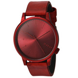 Reloj Komono Winston Acero Piel Rojo Unisex Msi Kom-w2267