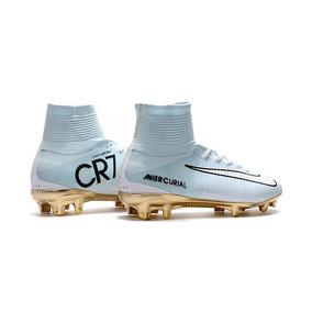 Chuteira Campo Cr7 Branca Dourada Adultos Nike - Chuteiras no ... 2e02ad8a690f6