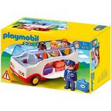 Playmobil 123 Autobús Con Pasajeros De Avión 6773 Educando