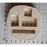 Molde De Caucho De Silicona Lego Ladrillos X 4!!!