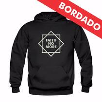 Canguru Bordado Faith No More Moletom Moleton Blusa Agasalho
