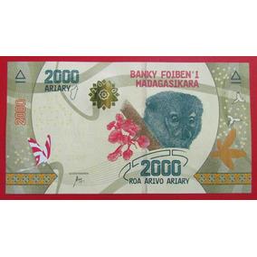 Madagascar Billete 2000 Ariary Unc 2017 Pick New