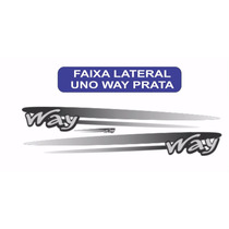 Faixa Lateral Uno Way Cor Prata Jogo