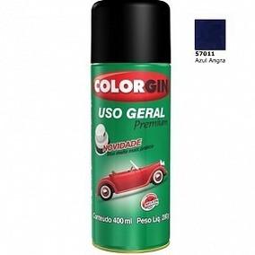 Tinta Spray Azul Angra Metálico (57011) 400ml Colorgin