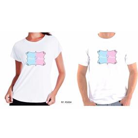Kit 2 Camisetas Camisa Chá De Bebê Chá Revelação Boy Or Girl