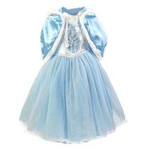 Vestido Fantasia Cinderela Princesa - Luxo Azul