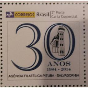 Selo Personalizado 30 Anos Agencia Filatelica De Salvador