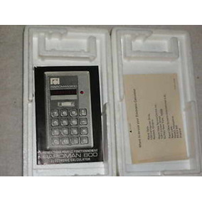 Calculadora De Coleção Vintage Rapidman 800 Canadá Ano 19