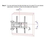 Articulación Movimiento Completo Tv Pared 20 ° Inclinación