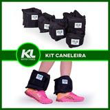 Kit Tornozeleira Caneleira De Peso 1kg 2kg 3kg 4kg 5kg Fixa