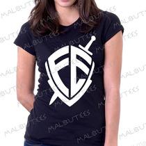 Baby Look Camiseta Fé Personalizado Blusa Feminina Colorida