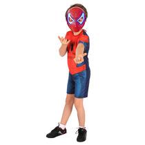 Fantasia Infantil Masculina Homem Aranha C/mascara Acende