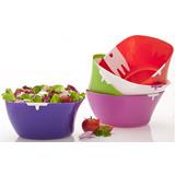Kit C/3 Saladeira Plastica 5,3lts C/ Pegador Top Line Luxo