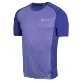 86a2900de0 Camisa Nike Nk Dry Miler Top- Roxa Azulada - P