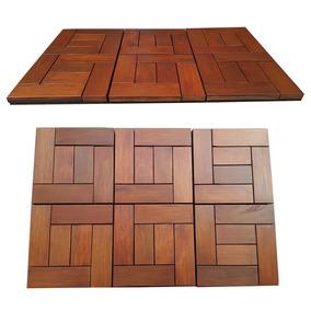Deck Tile Piso Modular Ipe Teca Cumaru Tzalam Exterior Hm5