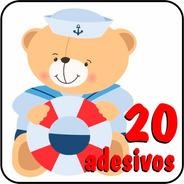 20 Adesivos Urso Marinheiro - Parede, Móveis, Aniversário