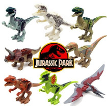 Kit Jurassic World - Indominus Rex, T Rex - 8 Dinossauros