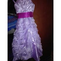 Vestido De Promocion Niña, Talla 10 Espalda Regulable